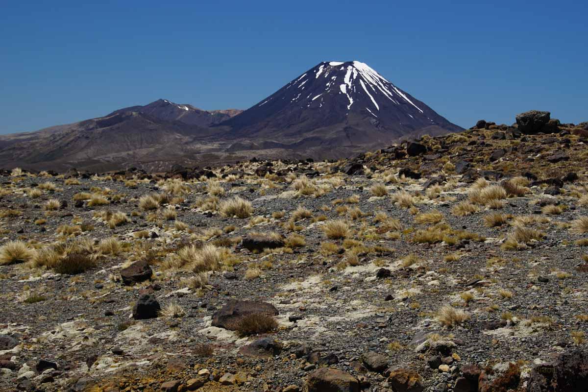 Mt Tongariro und Mt Ngauruhoe