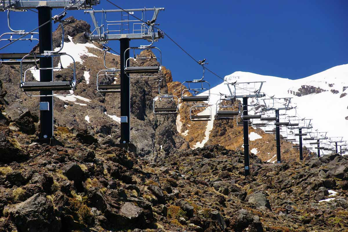 Mt. Ruapehu Sessellift