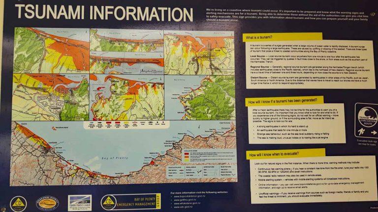 Ohiwa Beach Tsunami Information