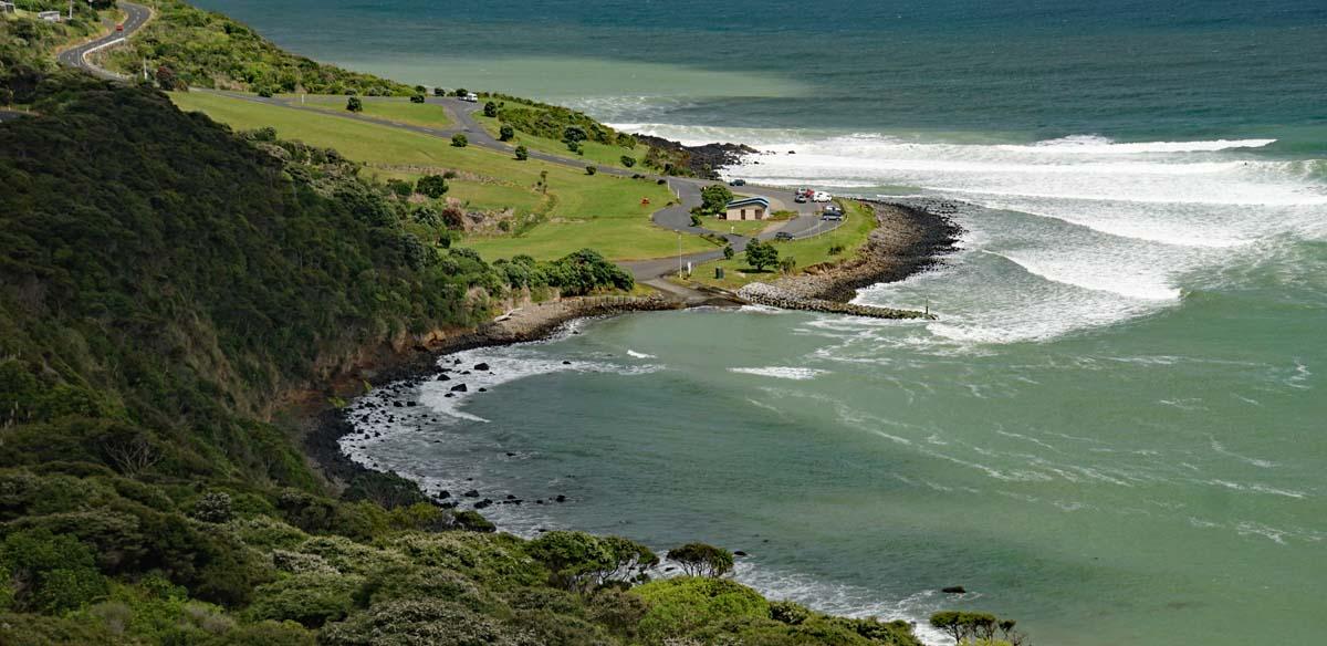 Raglan ein Surferparadies an der Tasman Sea