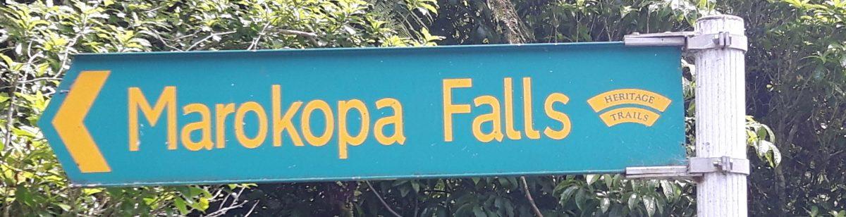 Sign Marokopa Falls