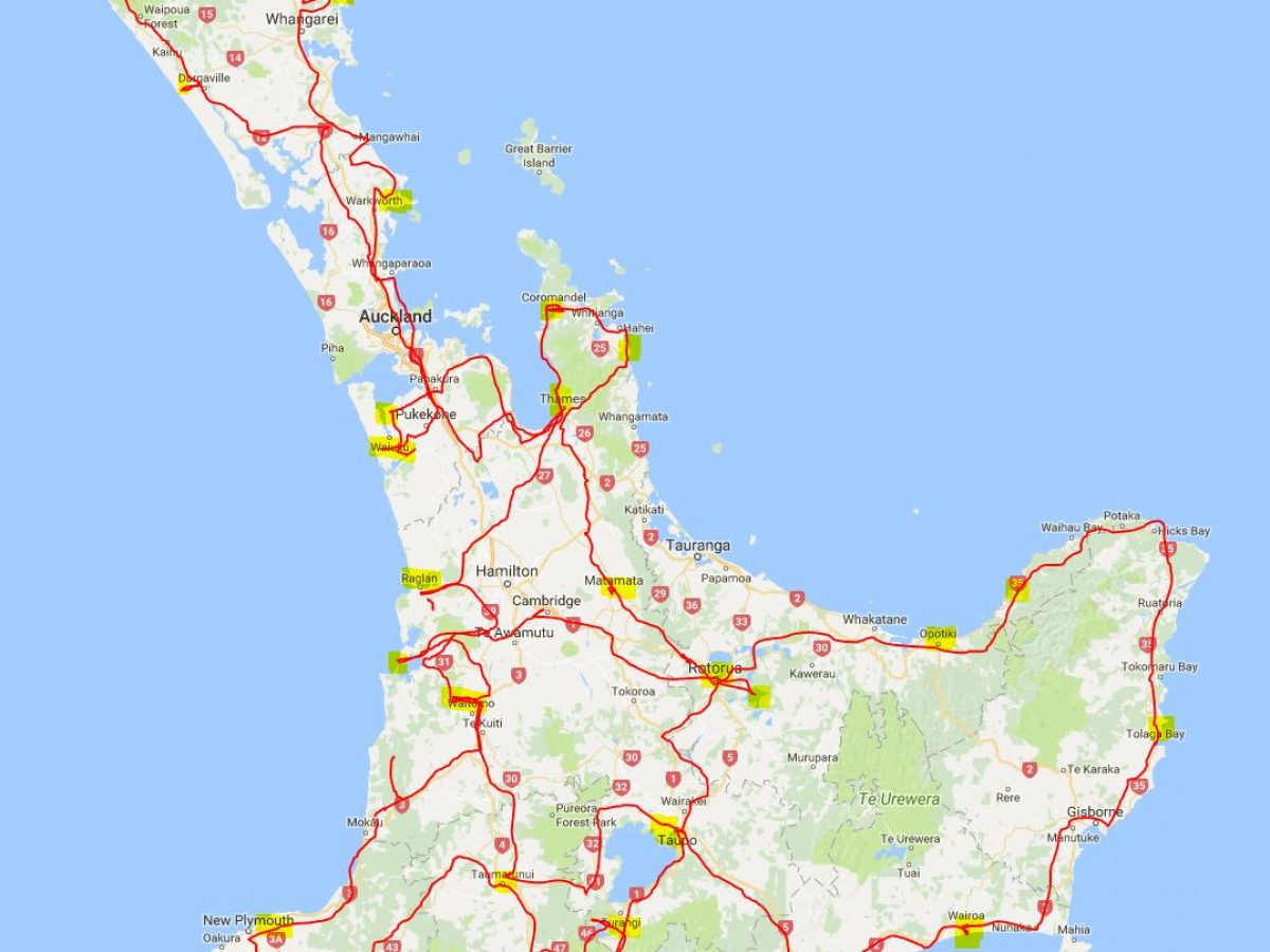 6 1/2 Wochen kreuz und quer 4 500 km über die Nordinsel Neuseelands.