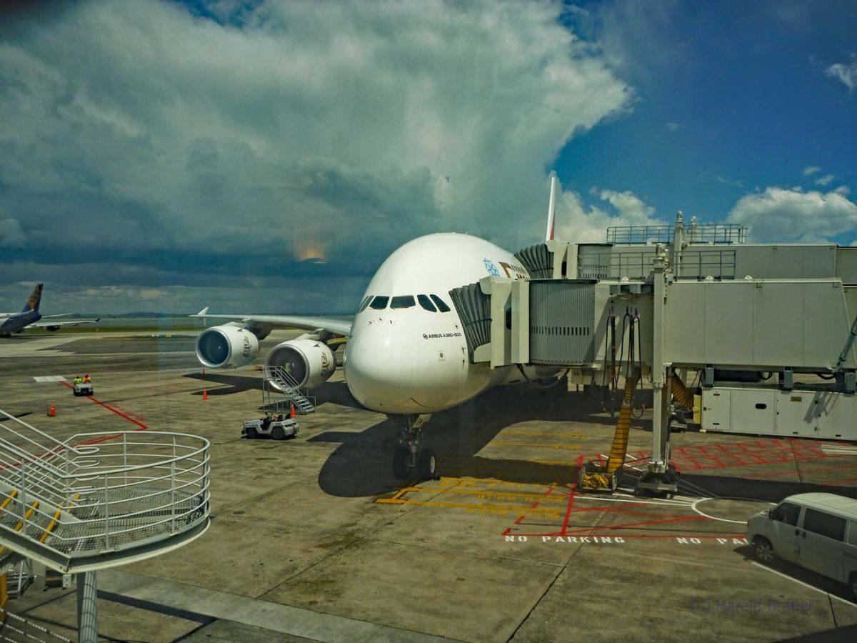 A380 - War das ein Routine-Check des Triebwerkes?