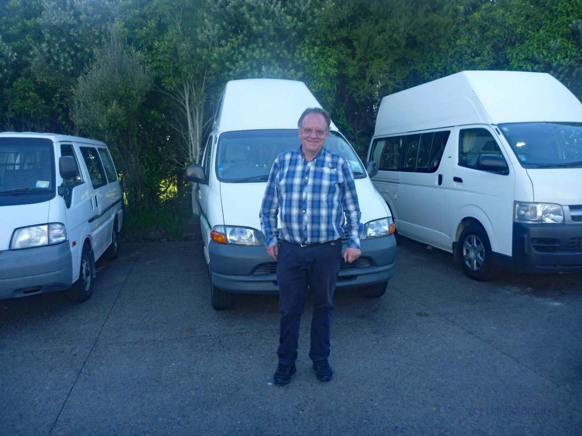 Übernahme des Campervans bei Banz Traveltours