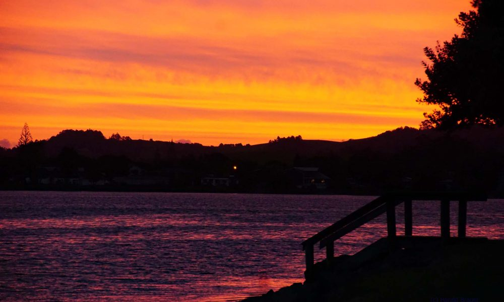 Sonnenuntergang Neuseeland