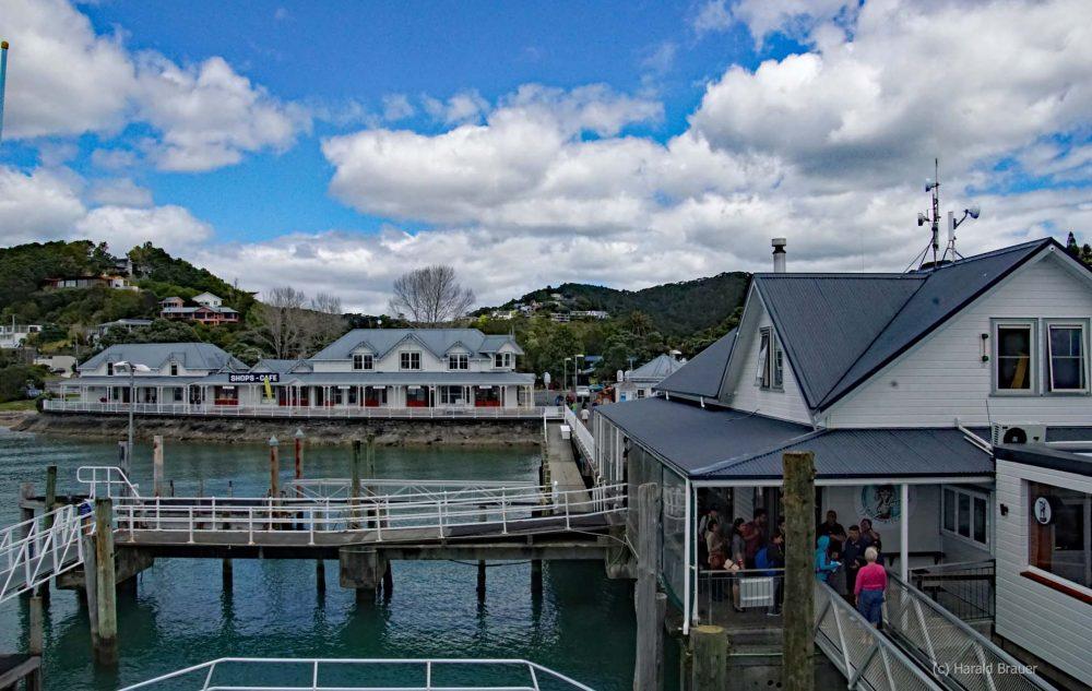 Bootsanleger in Pahia Neuseeland