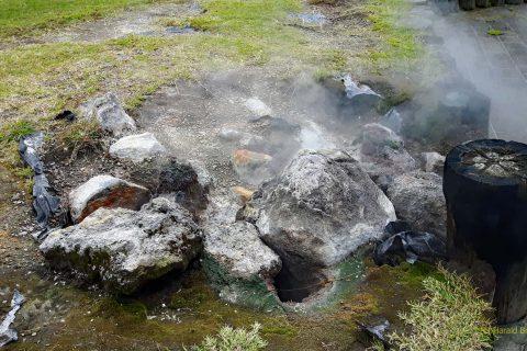 Kochstelle - Die heißen Quellen wurden zum Kochen genutzt