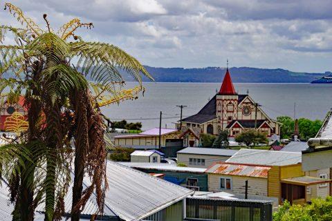 Maori Siedlung am Lake Roterua